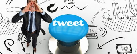 Tweeting in support of an exhibition or conference presence